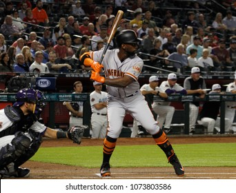 D-Backs- Andrew McCutchen outfielder for the San Francisco Giants at Chase Field in Phoenix ,AZ USA April 19,2018.