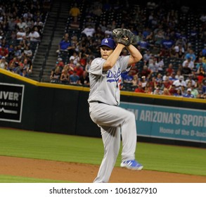 D-Backs- Clayton Edward Kershaw pitcher for the Los Angeles Dodgers at Chase Field in Phoenix Arizona USA April 3,2018.