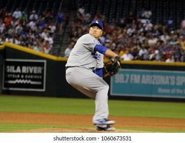 D-Backs Ryu , pitcher for the Los Angles Dodgers at Chase Field in Phoenix,AZ USA June 2,2018.