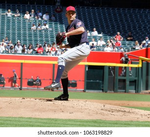 D-Backs- Trevor Bauer pitcher for the Cleveland Indians for the Cleveland Indians at Chase Field in Phoenix ,Arizona USA March 27,2018.