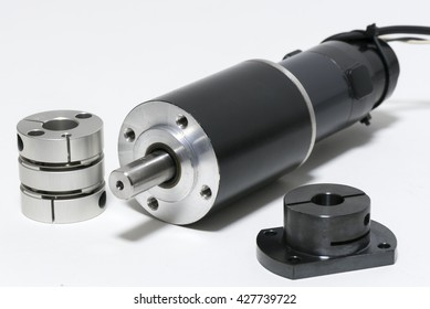 DC brush-less motor and coupling for shaft