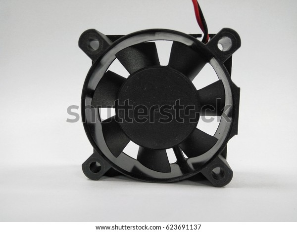 DC fan for power supply on white background