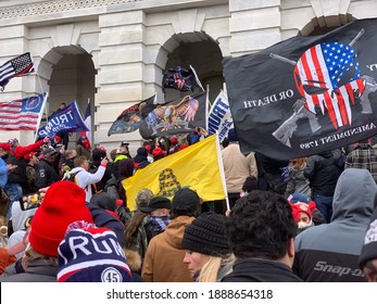 """""""Washington, DC - January, 6 2021: Trump supporters rioting at the US Capitol."""""""