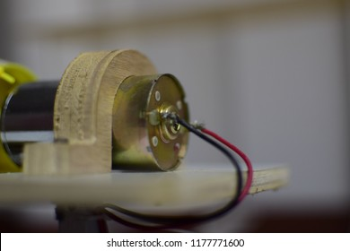 DC motor with board