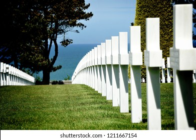 D-Day. American Cemetery. Colleville-sur-Mer. Normandie. France.