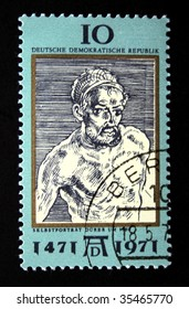 DDR -CIRCA 1970s: A stamp printed in the DDR (East Germany) shows Albrecht Durer, circa 1970s