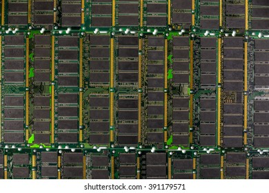 DDR RAM, Computer memory chips modules background