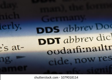 ddt word in a dictionary. ddt concept