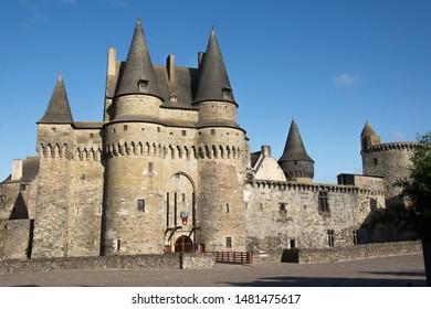 Château de Vitré in a beautiful sunny day. Bretagne, France