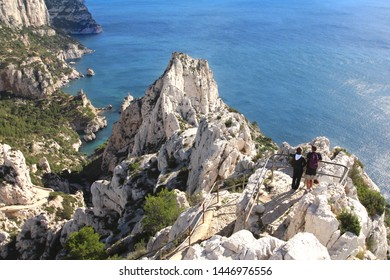 """""""Calanque de Sugiton"""": Creek of Sugiton, one of the creeks near Marseille, France, Europe"""