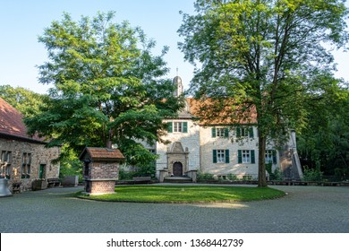 DE, Dortmund: June 2018: Haus Dellwig, Moated Castle in Westfalia