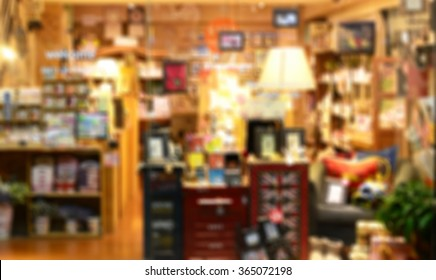 De focused/ Blurred image of a stationery store
