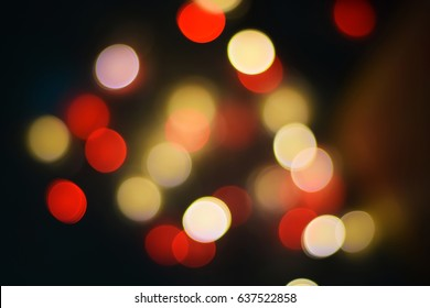 De focused bokeh lights