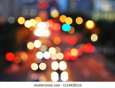 De focused street light in bokeh