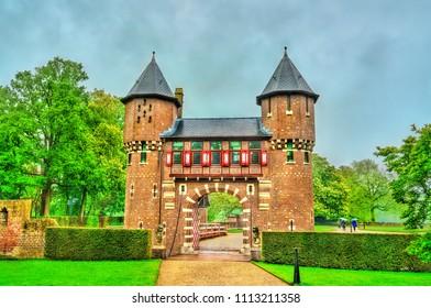 De Haar Castle near Utrecht. A major tourist attraction in the Netherlands