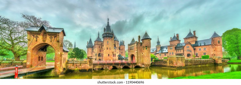 De Haar Castle near Utrecht. A major tourist attraction in the Netherlands