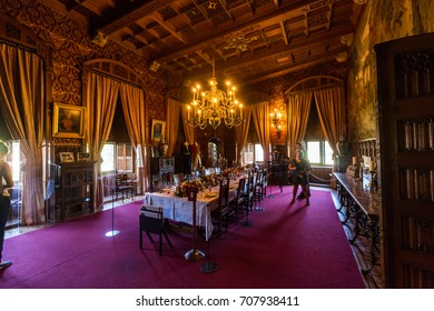 DE HAAR CASTLE, NETHERLANDS - MAY 28, 2017: View of the interior of the De Haar Castle on May 28, 2017. Its built in 1391 and currently owned by Foundation Kasteel de Haar.