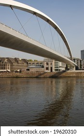 De Hoeg Bridge over the River Maas, Maastricht, Holland