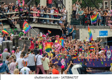 De Kasteelboot At The Gaypride Amsterdam The Netherlands 2019