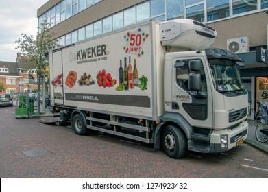 De Kweker Company Truck At Amsterdam The Netherlands 2018