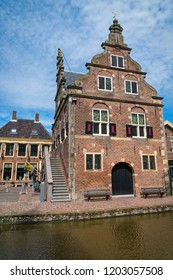 De Rijp, Middenbeemster, North Holland, Netherlands - May 1, 2018 : The old city hall of De Rijp