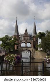 """""""De Sneker waterpoort"""" an old water gate in Sneek"""