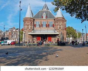 De Waag building on the Nieuwmarkt in Amsterdam the Netherlands