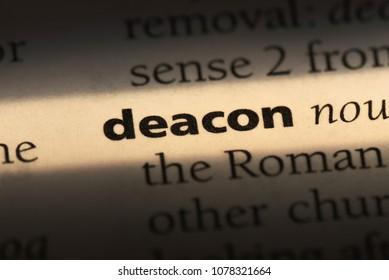 deacon word in a dictionary. deacon concept