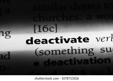 deactivate word in a dictionary. deactivate concept