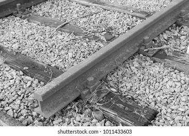 Dead end, Railroad tracks cut.