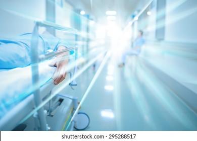 Dead patient in hospital corridor