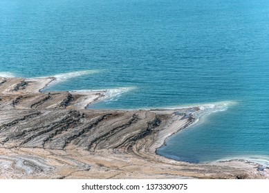 Dead Sea coastline in Jordan