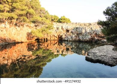 Dead Sea lake, Lokrum Island, Dubrovnik, Croatia