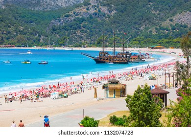 Dead Sea (Oludeniz), Situated on Turkey of south-west coast, with it's pristine white beaches and amazingly blue waters, is one of the finest beaches in the world. May 2018,