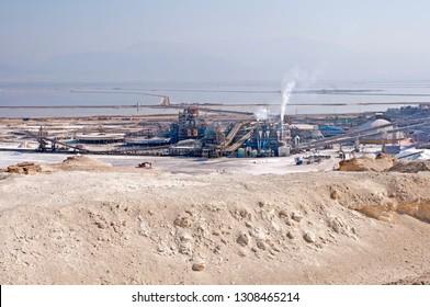 Dead sea Phosphate plant in Israel