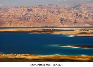 Dead sea view of ancient city Masada