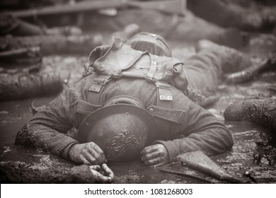 Dead soldier on the Western Front.