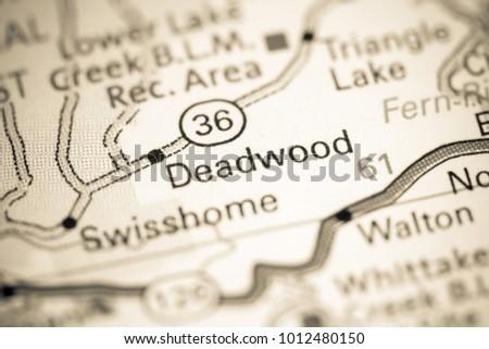 Deadwood Oregon USA On Map Stock Photo (Edit Now) 1012480150