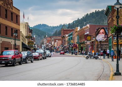 Deadwood, SD, USA - May 30, 2019: The well known city for its gold rush history
