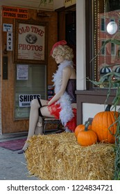 DEADWOOD, SOUTH DAKOTA, September 26, 2018 : Photograph store in Deadwood. The entire city is a National Historic Landmark District for its well-preserved Gold Rush era architecture.