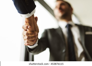 Deal Businessmen Handshake Partnership Concept