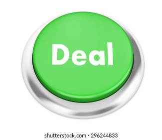 Deal button on isolate white background