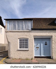 DEAL, UK - MARCH 25, 2017. Oakwood Cottage, an old converted corner property at Deal, a small English coastal town in the county of Kent, UK.