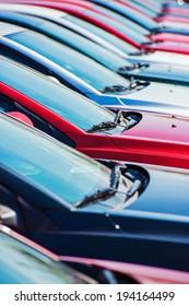 Dealership Cars Stock Row.