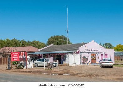 DEALESVILLE, SOUTH AFRICA - APRIL 6, 2015: Street scene in Dealesville in the Free State Province of South Africa