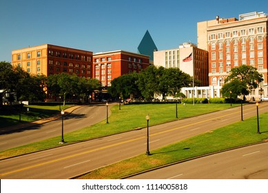 Dealy Plaza, sight of Kennedy Assassination, is an infamous spot in Dallas, Texas
