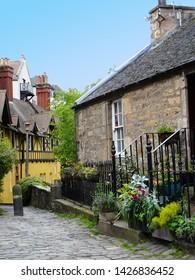 Dean village, beautiful village in Edinburgh, Scotland