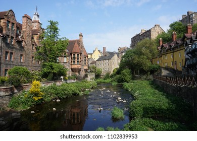 Dean Village from a bridge, Edinburgh
