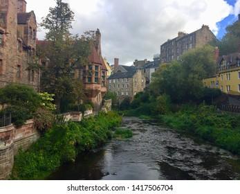 The Dean Village in Edinburgh
