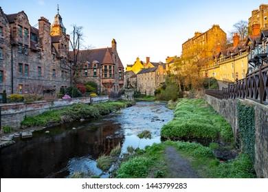 Dean Village in Edinburgh, Scotland.